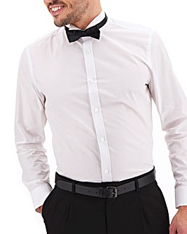 White Wing Collar Dinner Shirt & Bow Tie
