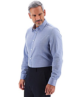 Blue Long Sleeve Twill Formal Shirt Long