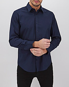 Navy Long Sleeve Stretch Shirt