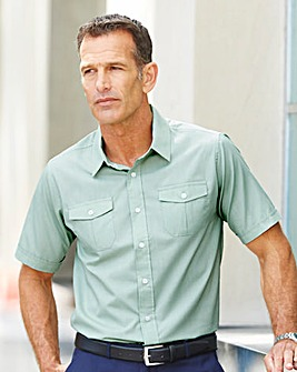 Premier Man Sage Short Sleeve Pilot Shirt Regular