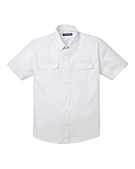 Premier Man White Short Sleeve Pilot Shirt Regular