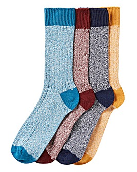 Pack of 4 Ribbed Boots Socks