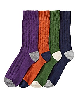 Pack of 4 Textured Boots Socks