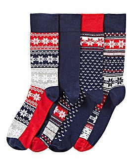 Pack of 4 Fairisle Socks