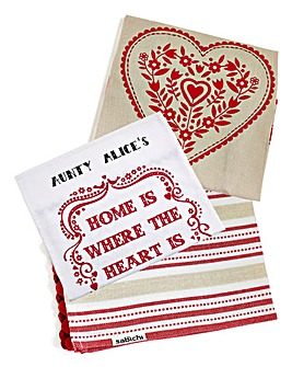 Personalised Cosy Kitchen Tea Towel Set