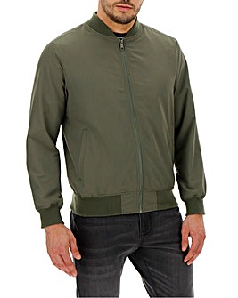 Khaki Bomber Jacket Long