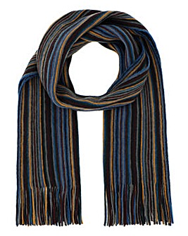 Striped Tassle Scarf