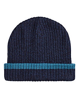 Navy Tipped Beanie Hat