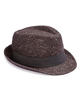Charcoal Trilby Hat