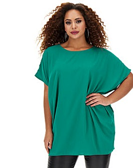 Green Cocoon Style Blouse