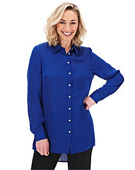Dark Blue Large Pocket Shirt