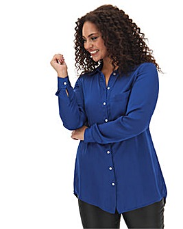 Dark Blue Large Pocket Shirt