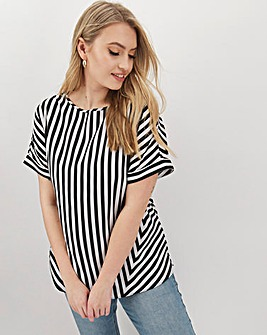 Stripe Cut About Boxy Top