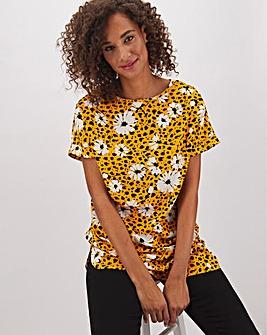 Floral Animal Print Woven Tunic