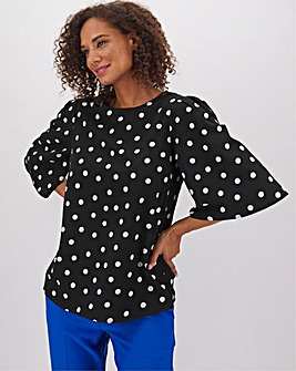 Puff Angel Sleeve Shell Top
