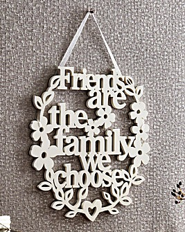 Friends Carved Sentiment Wall Hanging