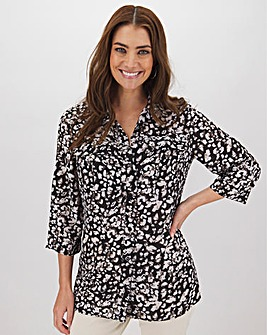 Leopard Print Utility Shirt