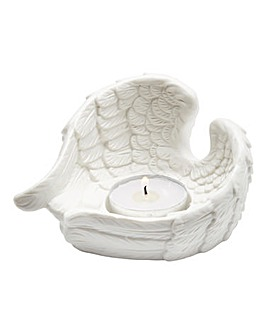 Porcelain Angel Wing Candle Holder