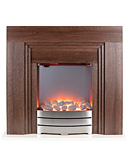 Warmlite Cantebury Oak Effect Fire Suite