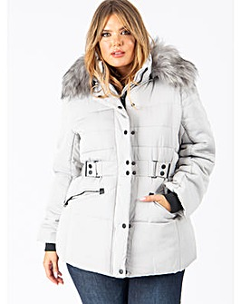 Lovedrobe Grey Padded Coat