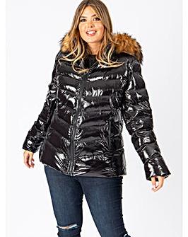 Lovedrobe Black Shine Padded Coat