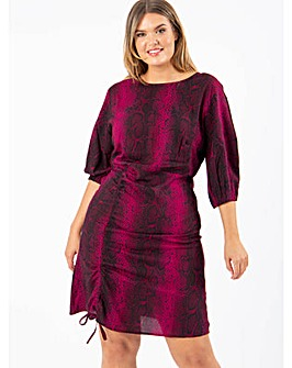 Koko Snake Print Adjustable Front Dress