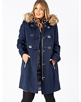 Lovedrobe Navy Duffle Coat