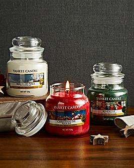 Yankee Candle Set of 3 Festive Small Jar
