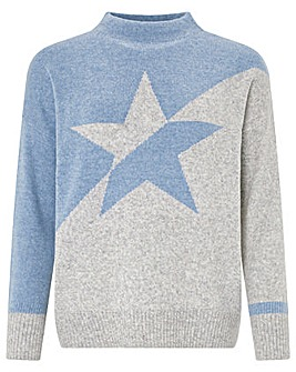 Monsoon Celeste Block Star Jumper