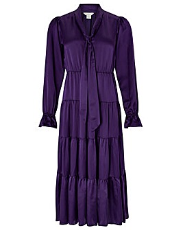 Monsoon Violet Silk Midi Dress
