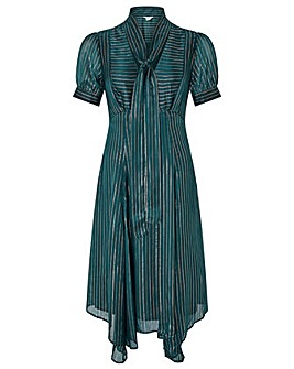 Monsoon Elodie Hanky Hem Stripe Dress