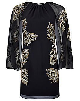Monsoon Cara Peacock Embroidered  Dress