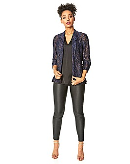 Roman Metallic Floral Lace Jacket