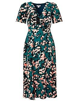 Monsoon Allegra Animal Print Tea Dress
