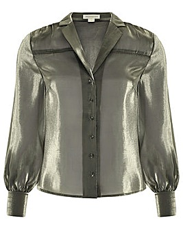 Monsoon Blair Shimmer Long Sleeve Blouse