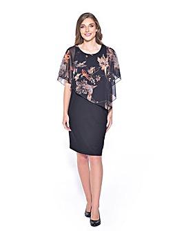 GRACE Chiffon Overlay Midi Dress