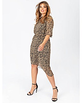 Lovedrobe GB Leopard Print Midi Dress