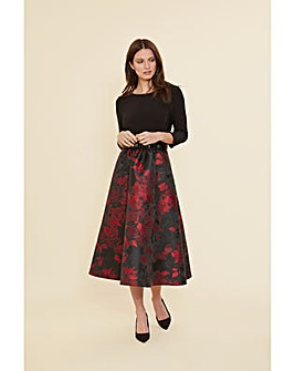 Gina Bacconi Jette Jacquard Dress