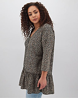 Leopard Print Smock Tunic
