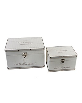 Set 2 Wedding Keepsake Trunks