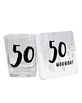 Luxe Special Birthday Glass & Coaster