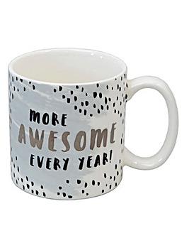 More Awesome Each Year Mug