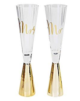 Mr & Mrs Gold Flutes