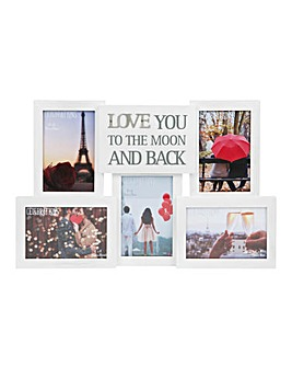 Love You to the Moon Multiapeture Frame