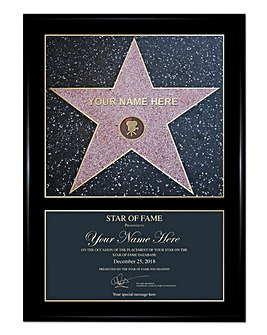 Personalised Framed Star of Fame