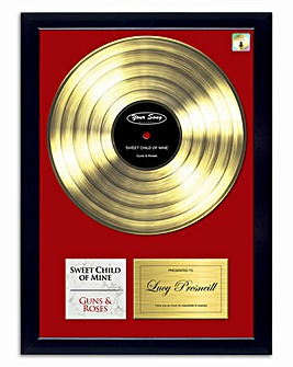 Personalised Gold Your Song Framed Poster