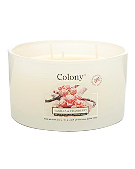 Colony Vanilla & Cranberry Candle