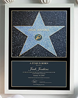 Personalised Blue A Star is Born Print