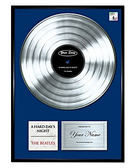 Personalised Platinum Your Song Frame