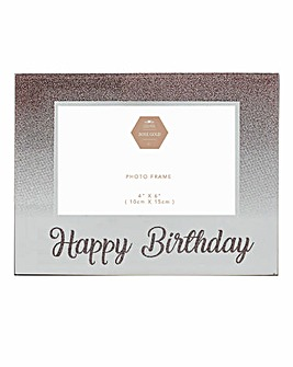 Rose Gold Glitter Birthday Frame